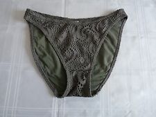 BNWOT khaki green lace ladies bikini bottoms ~ UK Size 12