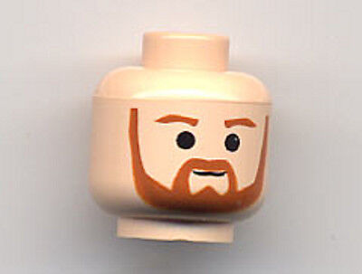Head Beard with Brown Trim Beard - Qui-Gon Jinn LEGO Star Wars Minifig