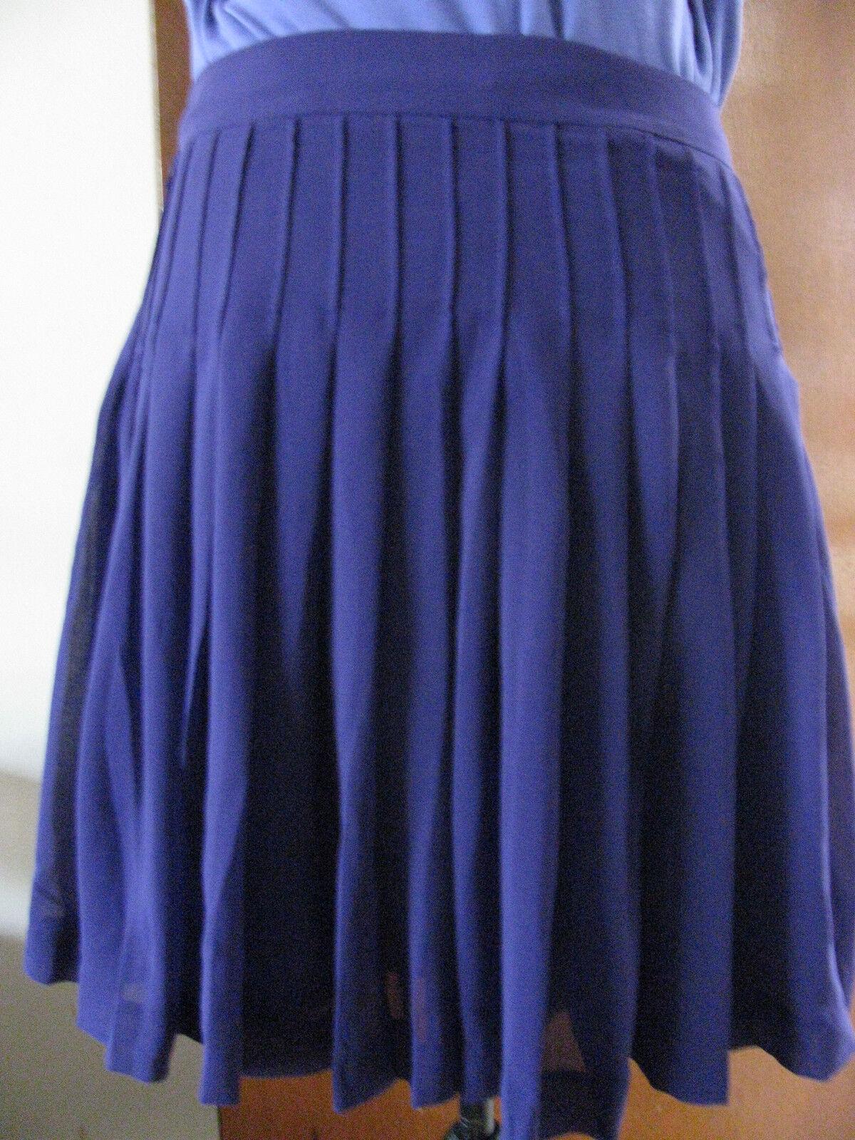 Gap women's purple lined pleated skirt Size 10,12 NWT