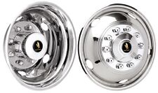 "19.5"" Chevy / GMC P30 Dually Wheel Simulators 10 lug rear 5 lug front rv dually"