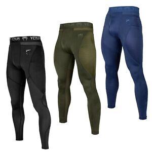 Venum Herren Spats G-Fit Schwarz Khaki Blau Leggings S-2XL MMA Training Crossfit