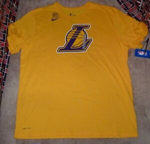 c3ea58a07 NEW NIKE NBA LA Los Angeles Lakers Basketball T Shirt Men 2XL XXL ...