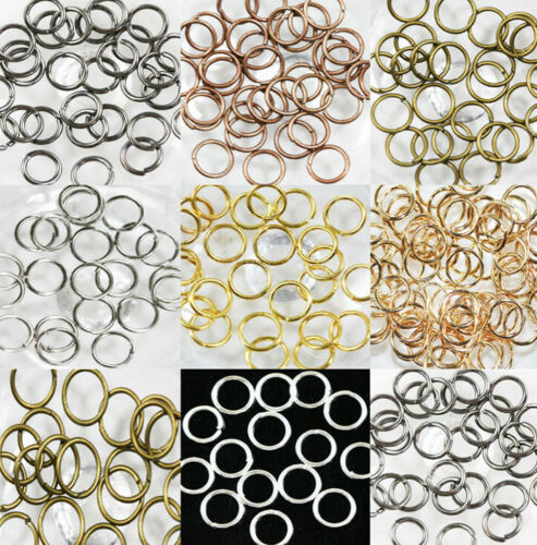 Wholesale Open Jump Rings Connectors Beads For Jewelry DIY 4//5//6//7//8//10//12mm YC