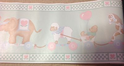 Vintage TRIMZ Wall Border Nursery Rhymes 2902 Mary Lamb Child Baby Decor
