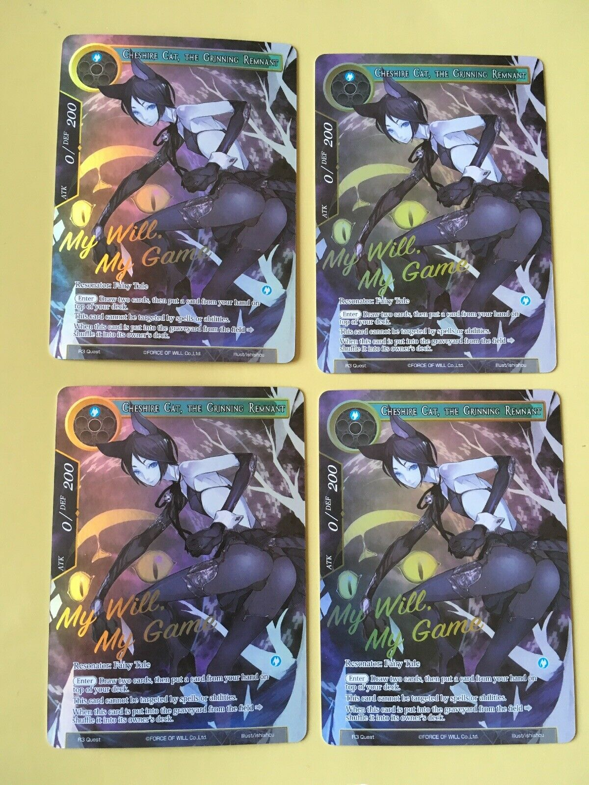 Cheshire cat the grinning remnant - PROMO My Will My Game - Force Of Will - FoW
