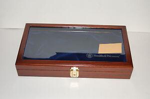 Smith-amp-Wesson-LARGE-Glass-Top-Presentation-Case-Revolver-Pistol-Handgun-N-L-K