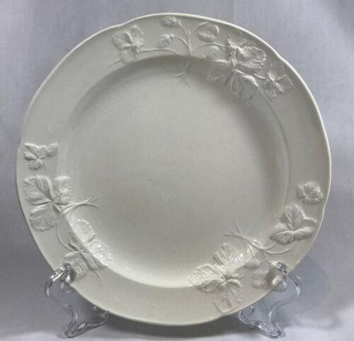 Minton's 18th Century Staffordshire Strawberry Salad Plate Salt Glaze Antique