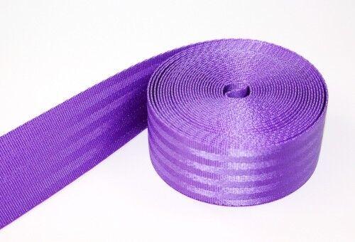 5m Sicherheitsgurtband lila aus Polyamid bis 1,5t belastbar 38mm breit