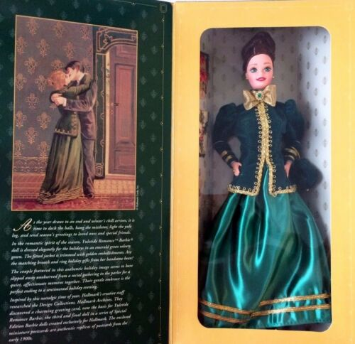 YULETIDE ROMANCE BARBIE 19th Century DOLL 1996 Hallmark Exclusive 3rd In Series
