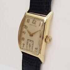 HAMILTON 14ct GELBGOLD DAMEN-ARMBANDUHR - aus den 1940er Jahren Art Deco Design