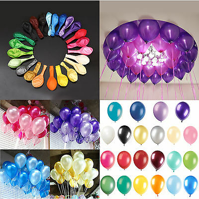 "100pcs 10"" Colorful Pearl Latex Celebration Party Wedding Birthday Balloon"
