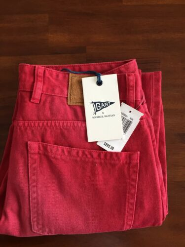 GANT BY MICHAEL BASTIAN THE MB OVERDRYED RED JEANS W32L32