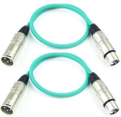 2 X 0,5 M Mikrofonkabel GrÜn Symmetrisch Adam Hall Xlr 3 Pol Dmx Mikrofon Kabel NüTzlich FüR äTherisches Medulla Bühnenbeleuchtung & -effekte Veranstaltungs- & Dj-equipment