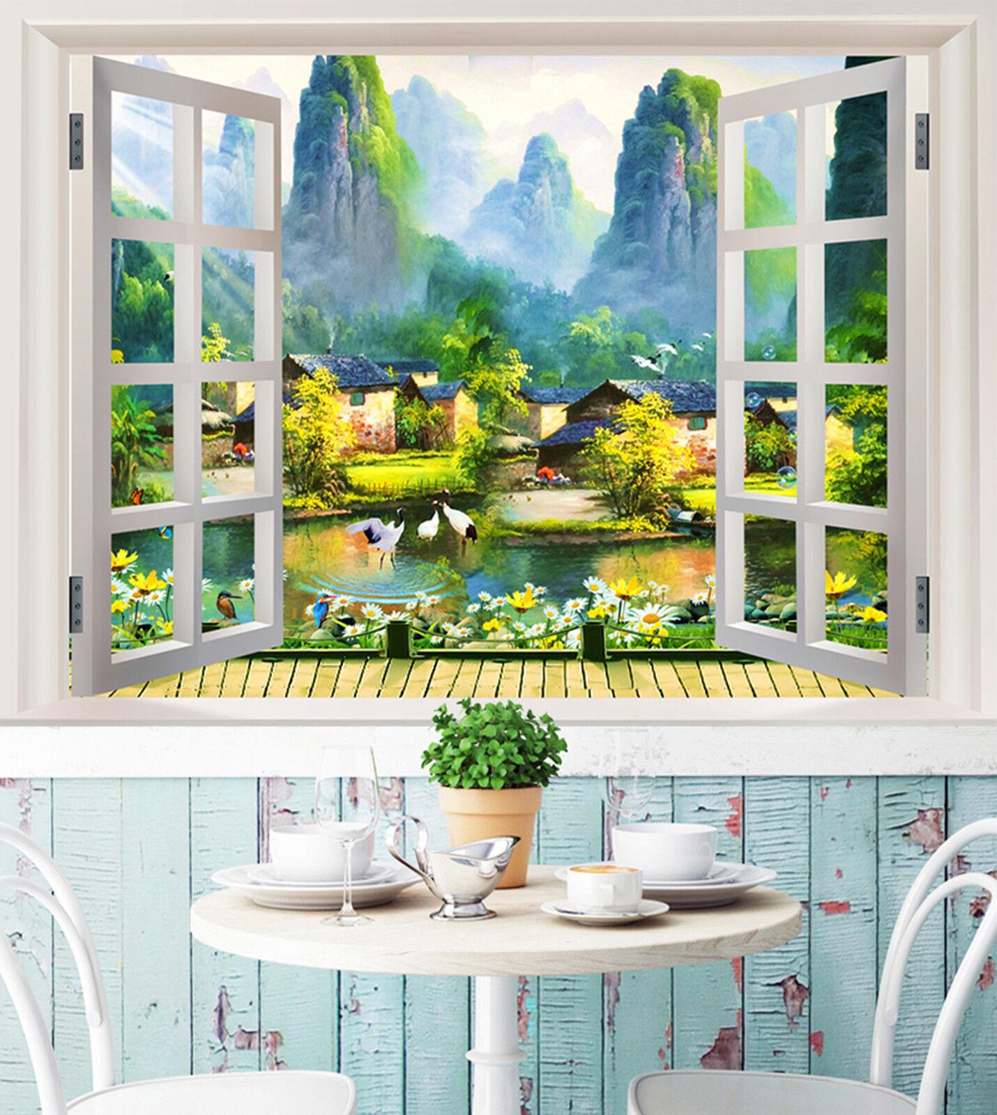 3D Landschaft Berg Fototapeten Wandbild Fototapete Bild Tapete Familie Kinder