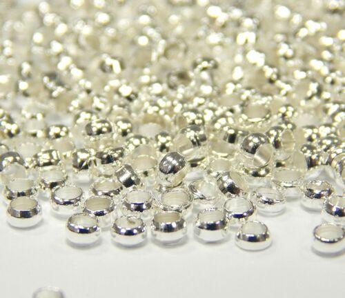 350 embouts à serrer Quetschröhrchen 2 mm environ Argent Perles sertissure Best m167