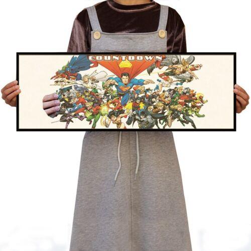 US SELLER Superhero Countdown comic poster artwork for wall decoration