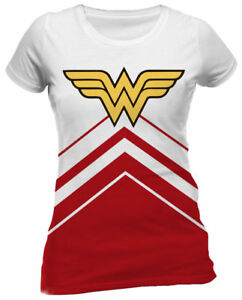 382a2ac30301 Wonder Woman 'Cheerleader' (Dye Sub) Womens Fitted T-Shirt - NEW ...