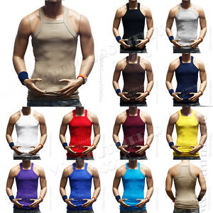 e2a840f9ef04d Image is loading Men-Muscle-Sleeveless-Ribbed-Wife-Beater-Tank-Top-