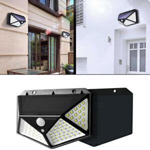 Luce-Solare-faretto-lampada-100-LED-parete-sensore-movimento-PIR-per-esterni