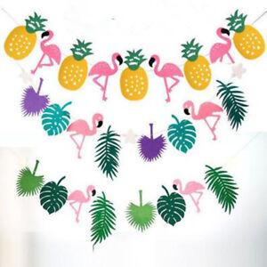 Flamingo-Garland-Set-Ete-Hawaien-Fete-Banniere-Hanging-Decor-Ananas-feuilles