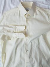 BRIONI (Made in Italy) for NEIMAN MARCUS - COTTON DRESS SHIRT - sz 15.5 Yellow