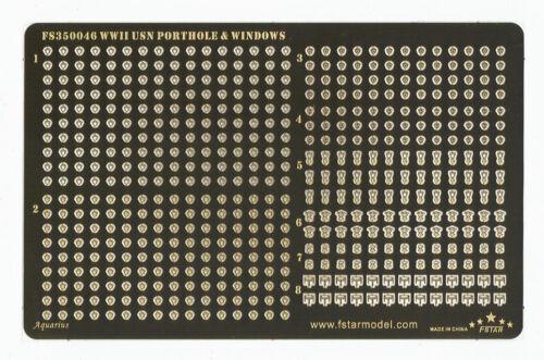 Fivestar PE 1//350 WWII USN Porthole /& Windows  FS350046