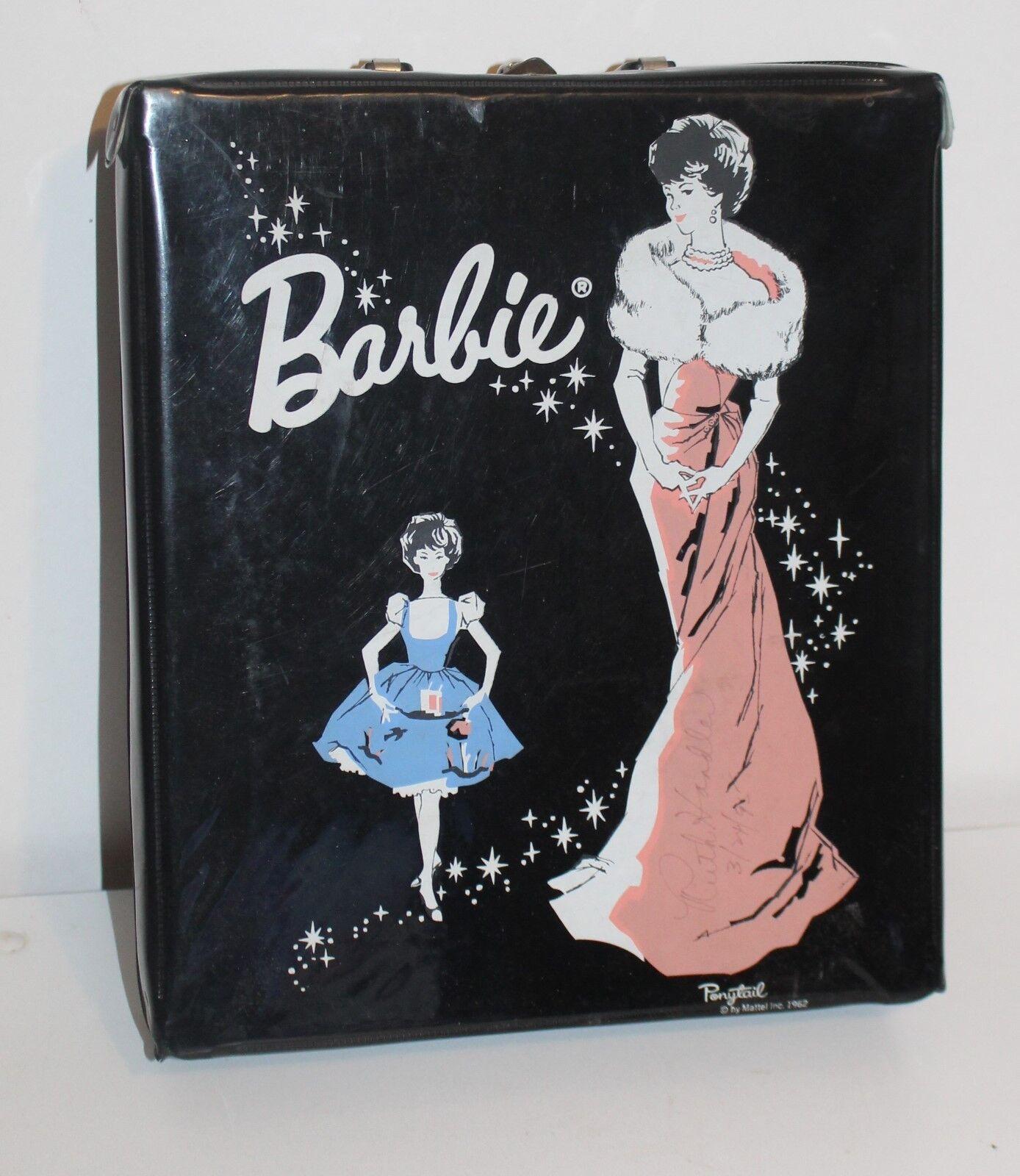 Autógrafo Ruth Handler De Colección Barbie 1962 Estuche Cola de Caballo Vinilo Negro Mattel
