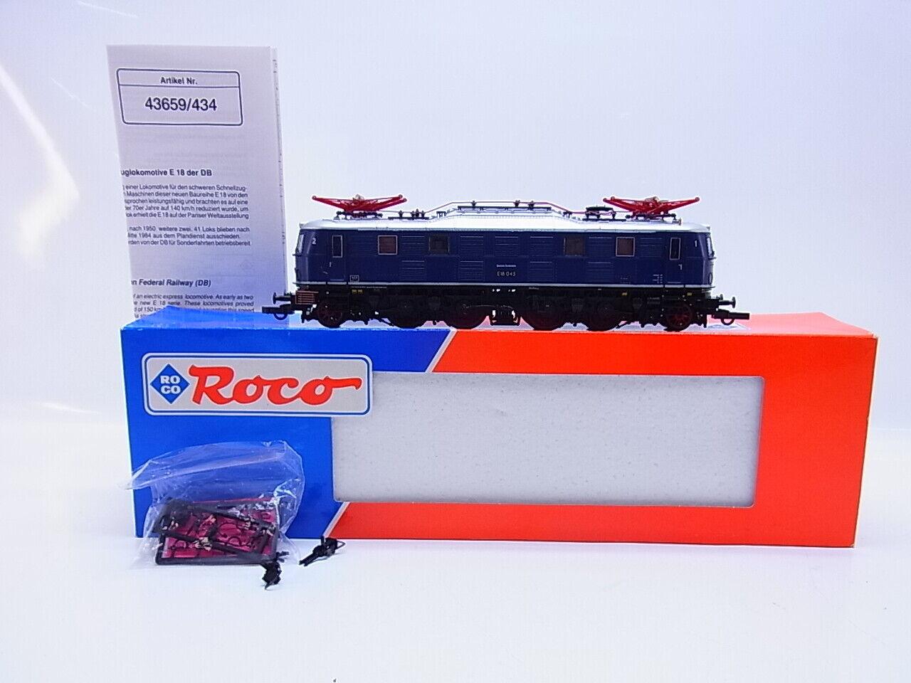 Lot 58628   Roco H0 43659 E-Locomotive BR E18 DB Mint In Original Box