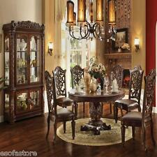 Crown Mark 2150 Dining Room Set 7pc. Kiera Round Table Traditional ...