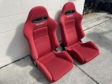 Integra Type R Dc5 Rsx Recaro Seats Sr 4 Red Jdm K20