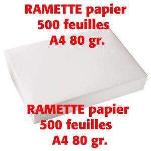 Distingué Ramette Papier A4 80 Gr - 500 Feuilles Copie Laser - Neuf