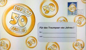 Details Zu Geld Geschenk Umschlag 50 Goldene Hochzeit Geldgeschenk Gutschein