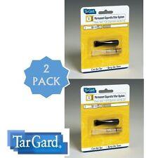 2 -New Cleanable Reusable Filter Cigarette Holder Cigarette Gold & Black