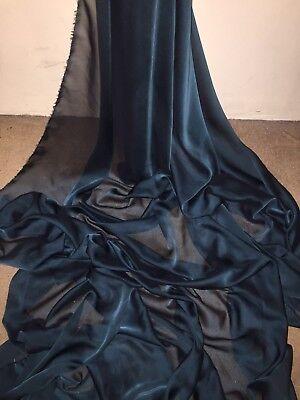 "3 MTR PINK CATIONIC TWO TONE SHEER BRIDAL DRESS CHIFFON FABRIC...58/"" WIDE £7.50"