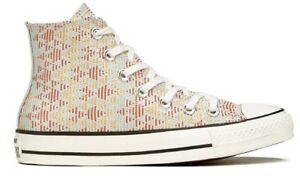 Converse-Raffia-Hi-Top-Women-039-s-Sneakers-Natural-Brake-Lights-551644-Size-US-7