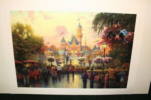 Thomas Kinkade Disneyland 50th Anniversary 24x36 Publishers Proof Unframed Paper
