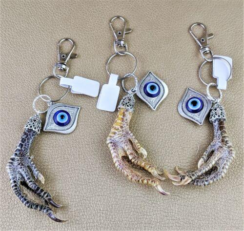 One Taxidermy Chicken Foot Key Chain Talisman Voodoo Curiosities Oddity