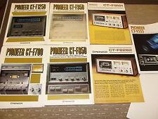 Pioneer CT-F1250 CT-F950 CT-F850 CT-F700 CT-F9191 CT-F8282 original catalogue