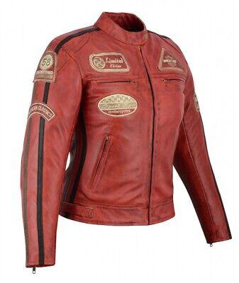 veste moto femme cuir dorsale vintage