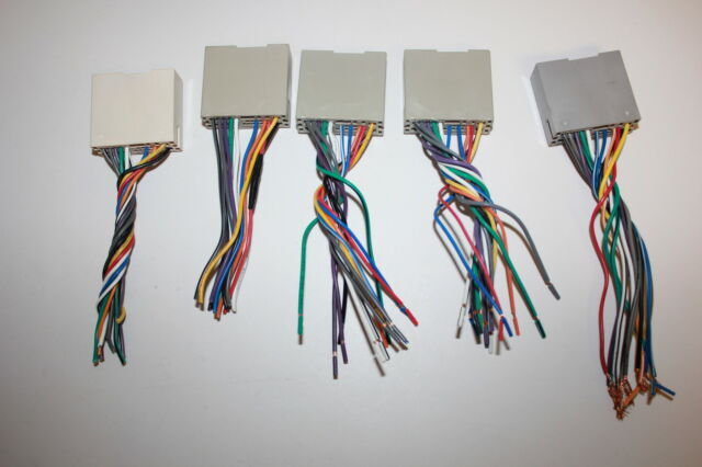 lot of 5 metra wiring harness adapter for select ford lincoln & mercury  70-5521