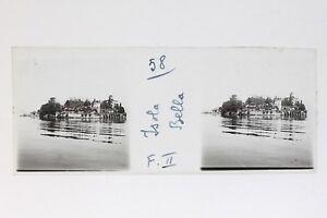 Italia-Isola-Bella-Lac-Maggiore-Foto-Stereo-T2L9n29-Placca-Da-Lente-Vintage