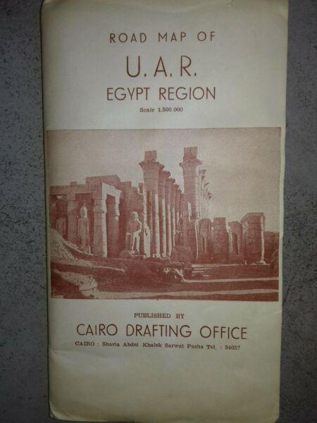 Historische Straßenkarte Ägypten Von 1963
