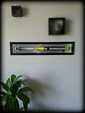 Baseball Bat Plaque Display Wall Mount Holder Wood Frame Aluminum Diamond Plate