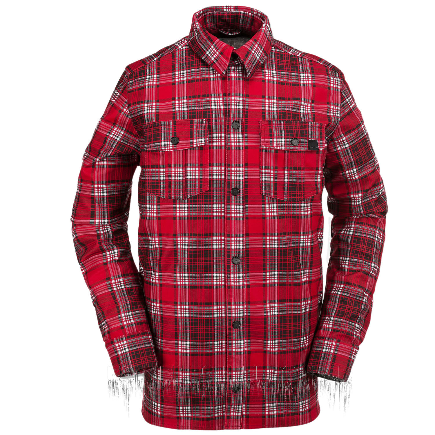 VOLCOM Mens 2016 Snowboard Red Plaid  DRIP BONDED FLANNEL  100% genuine counter guarantee