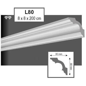 30-Meter-Styroporleisten-Zierprofile-Stuckprofile-Stuckleiste-Dekor-80x80mm-L80
