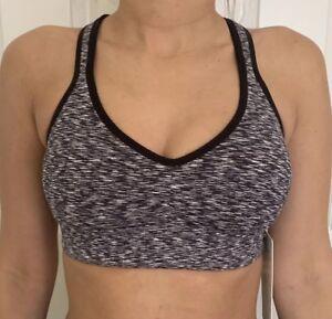 c9112b022bc03 Lululemon Size 10 Speed Up Bra C D Black White SOSD Sports Top Yoga ...