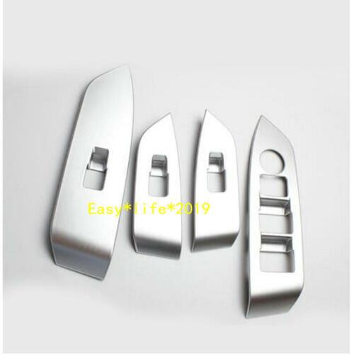 For LHD Mazda CX-5 CX5 2017-2019 Matte Door Armrest Window Switch Frame Trim