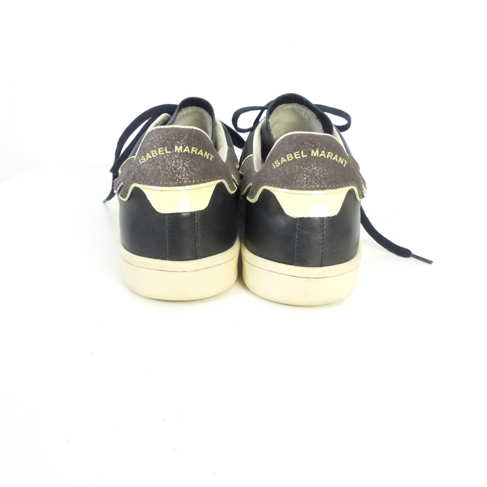 ISABEL MARANT Sneaker Turnschuhe (H142) Leder Schwarz Gr. 396 (H142) Turnschuhe 430325