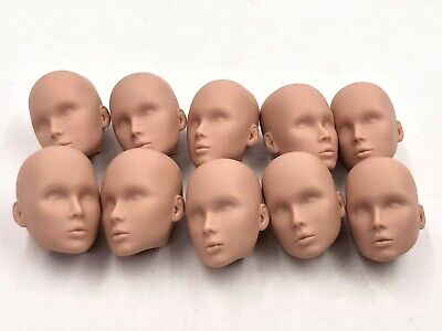 Fashion Royalty Integrity Doll Color Infusion Male Men Lots 10 Blank Face Heads