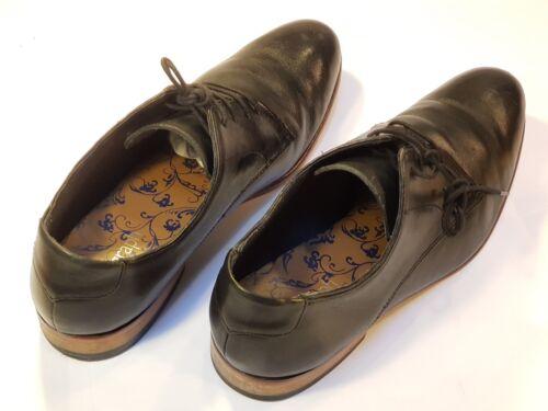 Leather M Uk Vgc s Lace Autograph Black Shoes Size 9 Up rXwr0q